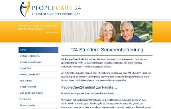 Vorschau von www.peoplecare24.de, Peoplecare24