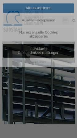 Vorschau der mobilen Webseite www.schwab-lagertechnik.de, schwab Förder- und Lagertechnik GmbH