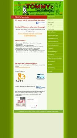 Vorschau der mobilen Webseite www.tommys-tanzstudio.de, TOMMYs Tanzstudio