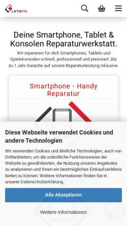 Vorschau der mobilen Webseite www.Letsfix.de, Letsfix