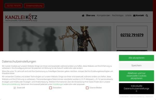 Vorschau von www.ra-kotz.de, Rechtsanwälte Kotz GbR