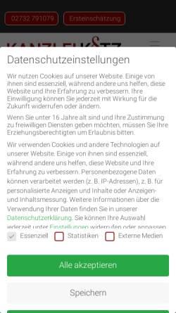 Vorschau der mobilen Webseite www.ra-kotz.de, Rechtsanwälte Kotz GbR