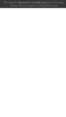 Vorschau der mobilen Webseite www.alpenwelt-versand.com, Alpenwelt Versand