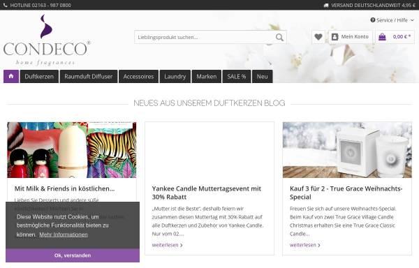 Vorschau von www.condeco.de, CONDECO - home fragrances