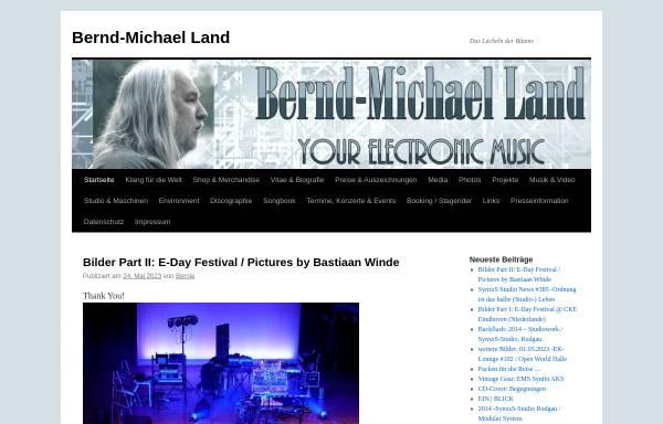 Vorschau von bernd-michael-land.com, Bernd-Michael Land - Elektronische Klangkunst & Musik