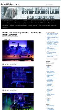Vorschau der mobilen Webseite bernd-michael-land.com, Bernd-Michael Land - Elektronische Klangkunst & Musik