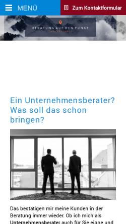 Vorschau der mobilen Webseite lambertschuster.de, S&P Unternehmensberatung, Lambert Schuster