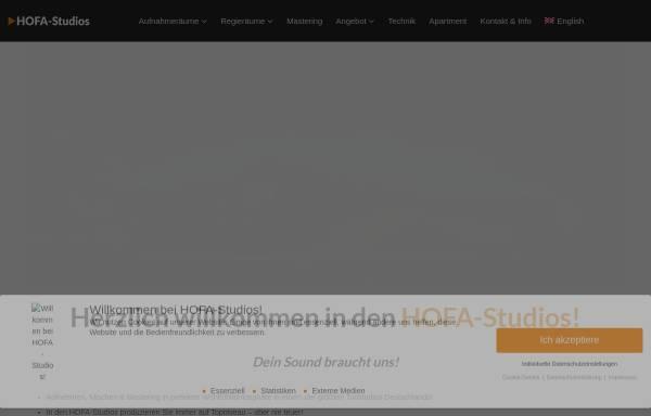 Vorschau von hofa-studios.de, HOFA-Studios - Recording, Mix & Mastering
