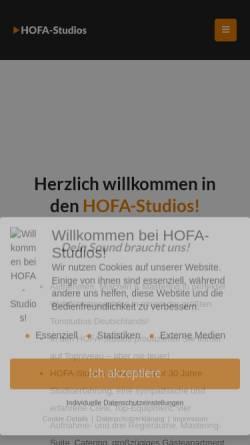 Vorschau der mobilen Webseite hofa-studios.de, HOFA-Studios - Recording, Mix & Mastering