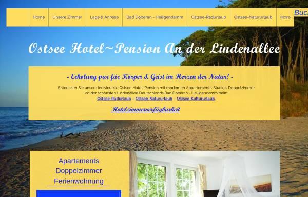 Vorschau von www.ostseepension-baddoberan.de, Ostsee-Pension An der Lindenallee