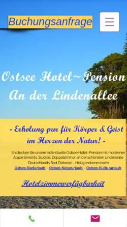 Vorschau der mobilen Webseite www.ostseepension-baddoberan.de, Ostsee-Pension An der Lindenallee