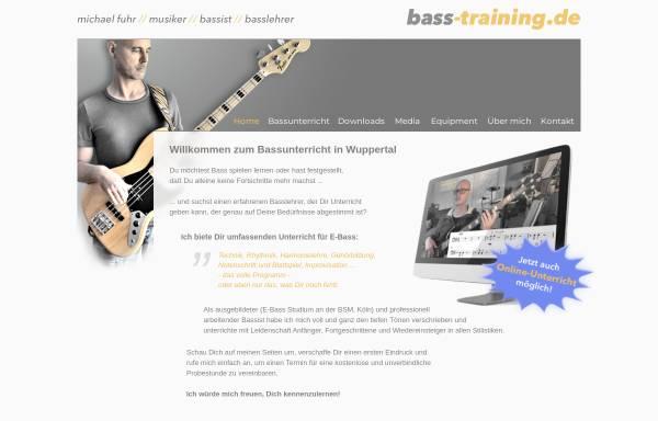 Vorschau von www.bass-training.de, Bassunterricht in Wuppertal, Michael Fuhr