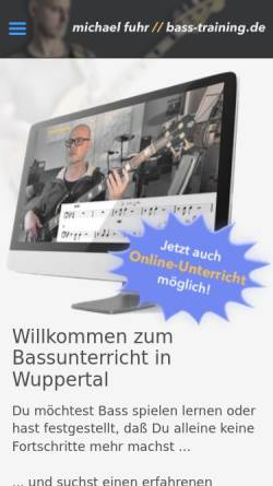 Vorschau der mobilen Webseite www.bass-training.de, Bassunterricht in Wuppertal, Michael Fuhr