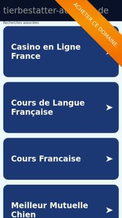 Vorschau der mobilen Webseite www.tierbestatter-auskunft.de, Tierbestatter-Auskunft