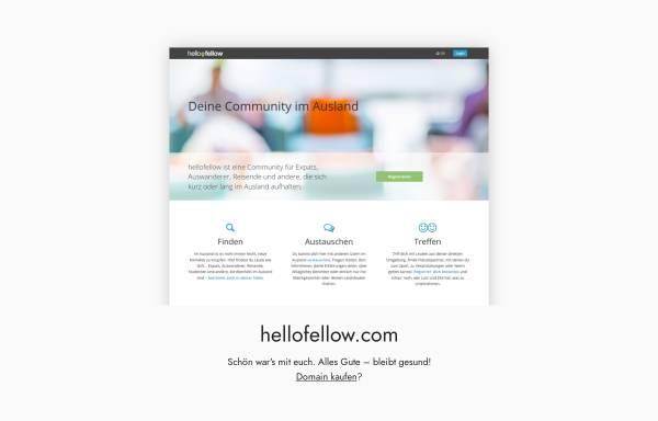 Vorschau von hellofellow.com, hellofellow - Dein Netzwerk im Ausland