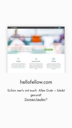 Vorschau der mobilen Webseite hellofellow.com, hellofellow - Dein Netzwerk im Ausland