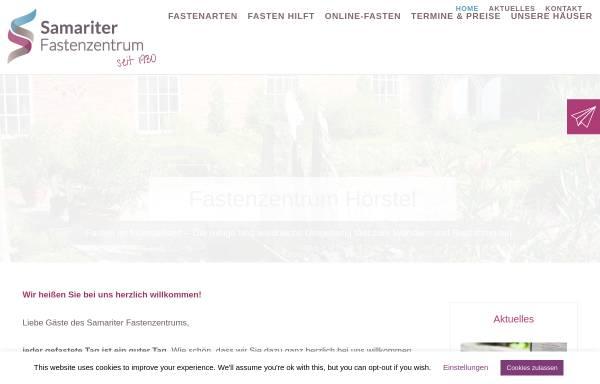 Vorschau von www.fasten-zentrum.de, Fastenzentrum Hörstel - Samariter Fastenzentrum