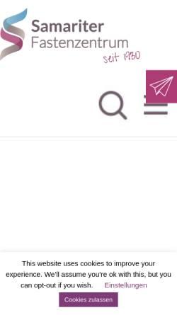 Vorschau der mobilen Webseite www.fasten-zentrum.de, Fastenzentrum Hörstel - Samariter Fastenzentrum