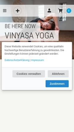 Vorschau der mobilen Webseite www.wohlfuehlbereich.de, moveorespiro - Yoga und Pilates im Wohlfühlbereich