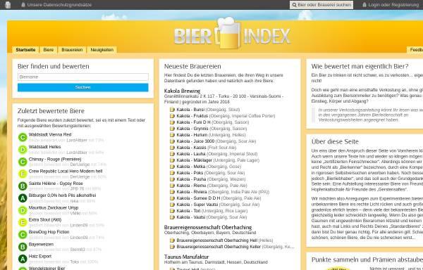 Vorschau von www.bier-index.de, Bier-Index - Bier bewusst genießen und bewerten für mehr Bierkultur