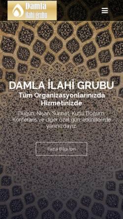 Vorschau der mobilen Webseite www.ilahigrubu.net, Ilahi Grubu DAMLA - İslami Düğün Hizmeti