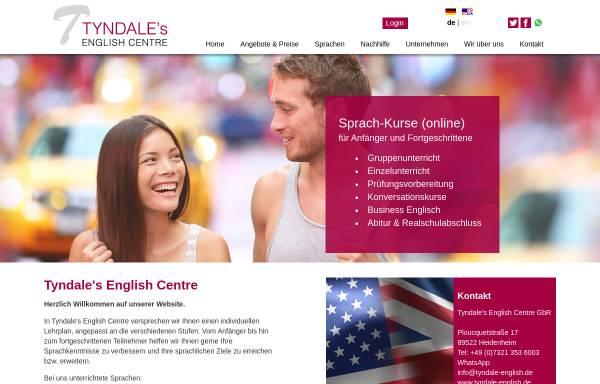 Vorschau von www.tyndale-english.de, Tyndale's English Centre