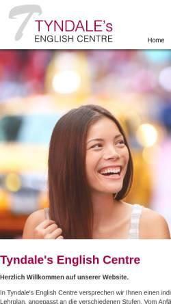 Vorschau der mobilen Webseite www.tyndale-english.de, Tyndale's English Centre