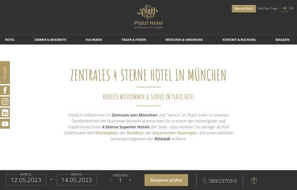 Vorschau von www.platzl.de, Platzl Hotel