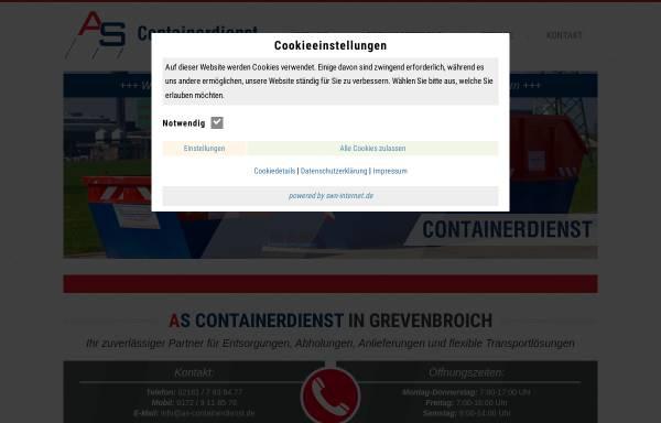 Vorschau von www.as-containerdienst.de, AS Containerdienst