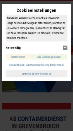 Vorschau der mobilen Webseite www.as-containerdienst.de, AS Containerdienst