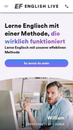Vorschau der mobilen Webseite www.englishtown.de, EF Englishtown
