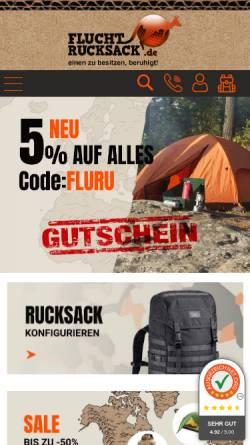 Vorschau der mobilen Webseite www.fluchtrucksack.de, fluchtrucksack.de, Schirmer Zitzl GbR