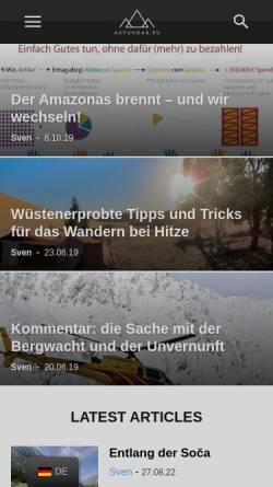Vorschau der mobilen Webseite www.aufundab.eu, aufundab