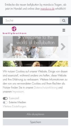 Vorschau der mobilen Webseite www.bellybutton.de, bellybutton International GmbH