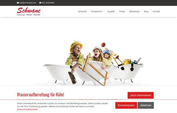 Vorschau von www.schwane.info, Schwane Sanitär- und Heizungstechnik e.K.
