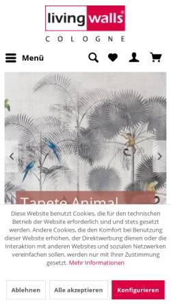 Vorschau der mobilen Webseite www.livingwalls-cologne.de, Livingwalls Cologne