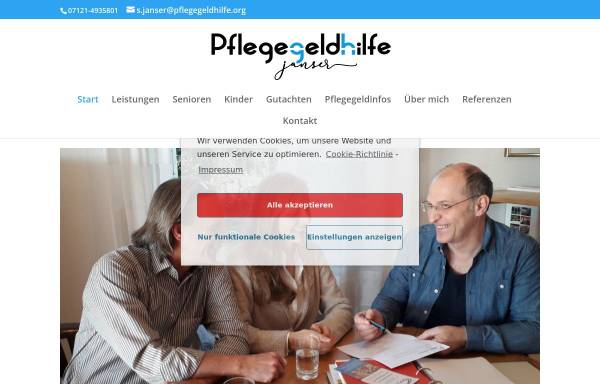 Vorschau von pflegegeldhilfe.org, Pflegegeldhilfe Janser