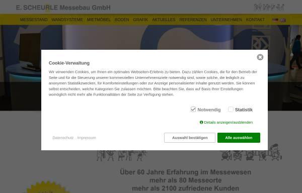 Vorschau von www.scheurle-messebau.de, E. Scheurle Messebau GmbH