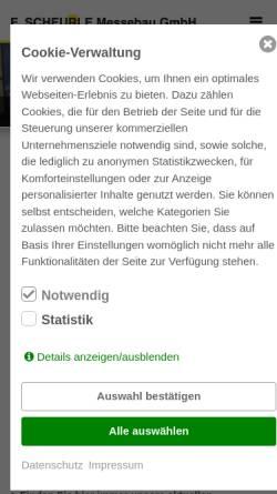 Vorschau der mobilen Webseite www.scheurle-messebau.de, E. Scheurle Messebau GmbH