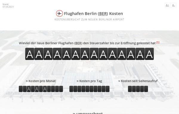 Vorschau von www.flughafen-berlin-kosten.de, Flughafen Berlin Kosten