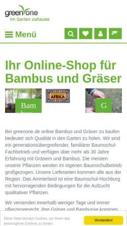 Vorschau der mobilen Webseite bambus-graeserwelten.de, Bambus und Gräser, Korthals & Timme GbR