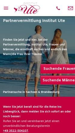 Vorschau der mobilen Webseite www.institut-ute.de, Institut Ute