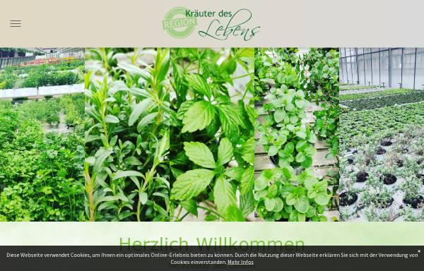 Vorschau von www.kraeuter-des-lebens.de, Kräuter des Lebens - Versandgärtnerei für Kräuter