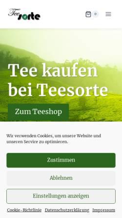Vorschau der mobilen Webseite www.teesorte.com, Teesorte, Cornelia Huber
