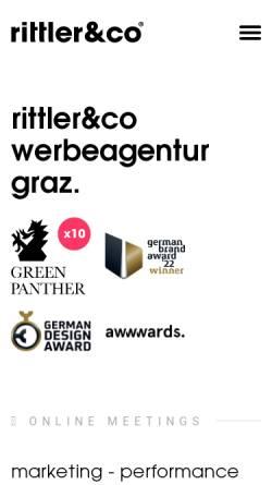 Vorschau der mobilen Webseite www.werbe-agentur-graz.at, Rittler & Co GmbH