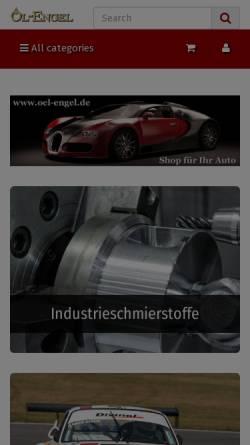 Vorschau der mobilen Webseite www.oel-engel.de, Öl und Schmierstoffhandel Engel