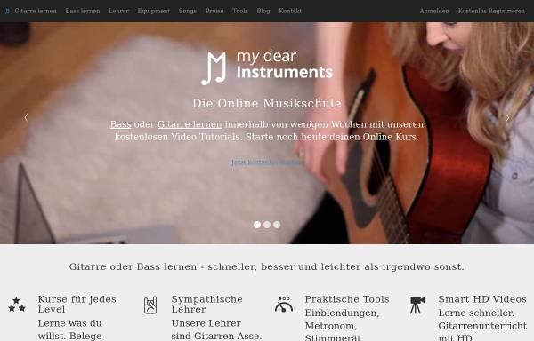 Vorschau von www.mydearinstruments.com, My Dear Instruments