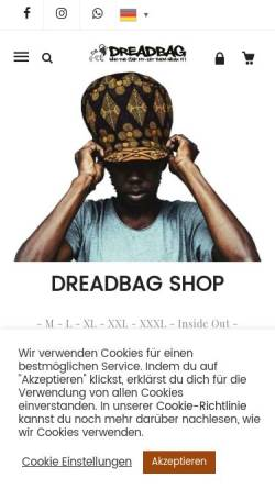 Vorschau der mobilen Webseite www.dreadbag.de, Dreadbag.de
