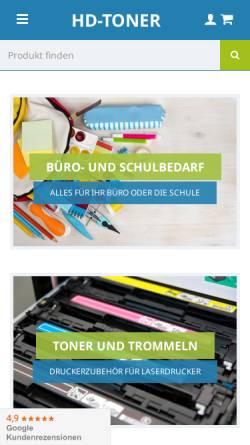 Vorschau der mobilen Webseite www.hd-toner.de, Trensco GmbH / HD-Toner.de