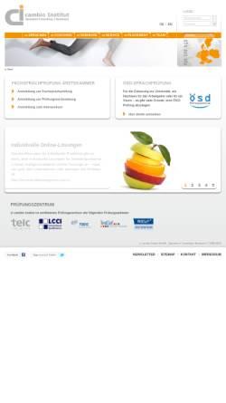 Vorschau der mobilen Webseite www.cambio-institut.de, ci cambio Institut GmbH
